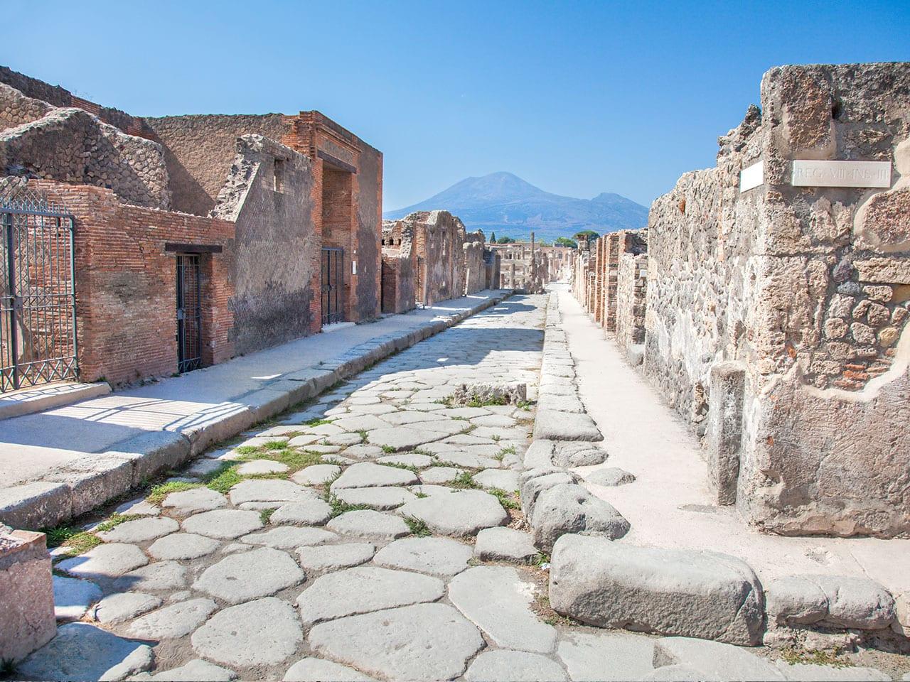 L'ancienne Pompéi aujourd'hui, après l'éruption du Vésuve.