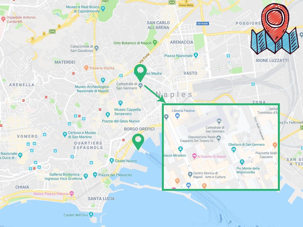 Comment se rendre à la cathédrale de San Gennaro