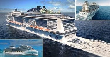 MSC futurs navires de croisière