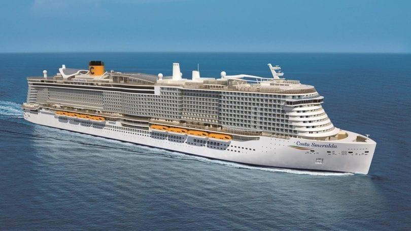 Le Costa Smeralda est l'un des plus gros navires de croisière au monde