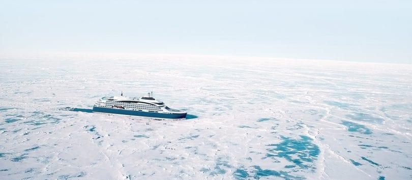 Ponant et le Commandant Charcot, futur navire brise glace qui ouvrira les portes de ses premières croisières en 2021