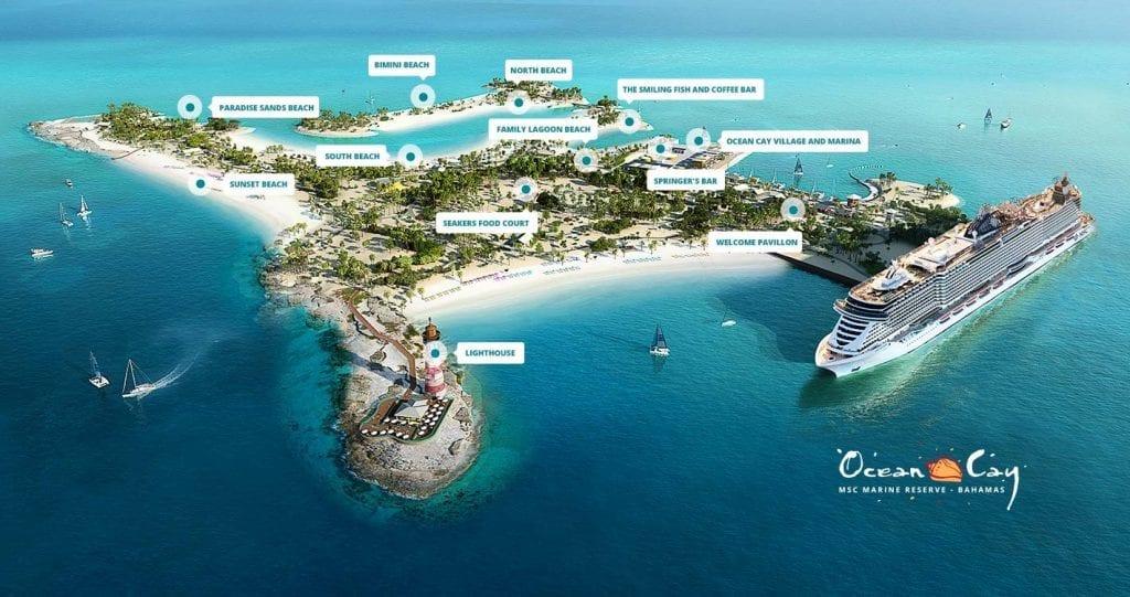 Ocean Cay marine reserve deploie des ressources colossales afin de proposer une île privée en adéquation avec la vie de la faune et de la flore bahamienne