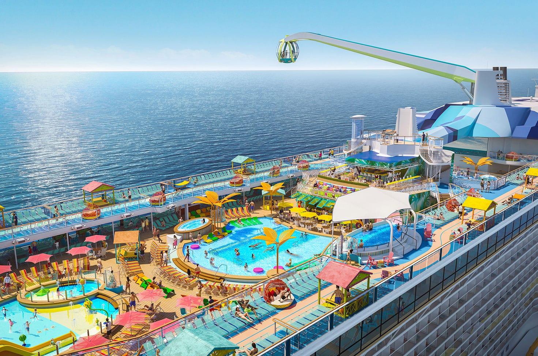 L'Odyssey of the Seas, prochain navire de la gamme Quantum Ultra à naviguer vers les ports de Méditerrané. Il proposera des escales plus longues encore jamais vues de 15h.