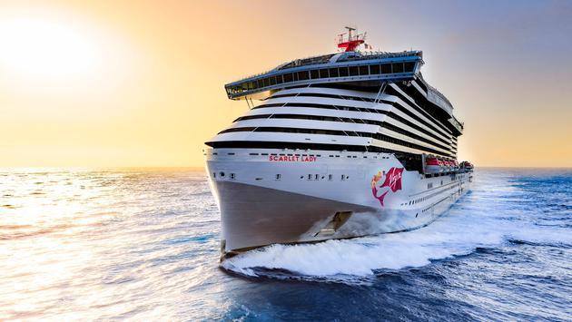 virgin cruises livre son premier bateau, le Scarlet Lady, début des croisières inaugurales le 1er avril
