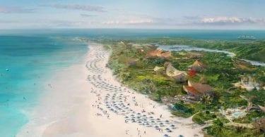 Lighthouse point, la nouvelle escale privative de Disney Cruise Line située aux Bahamas, dans l'île d'Elheutra