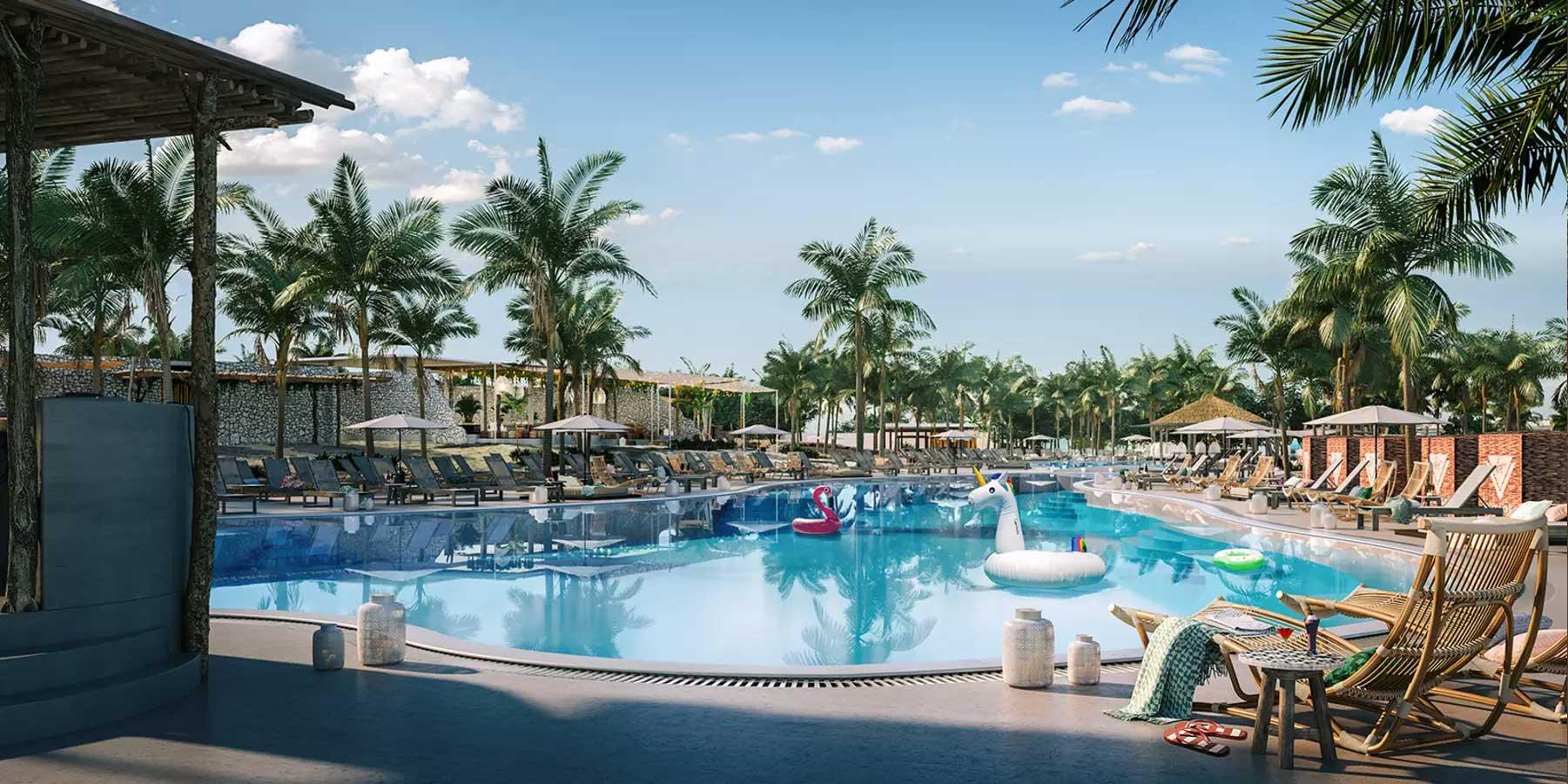beach club bimini, l'île privée de Virgni Cruises ouvrira ses portes en avril 2020, avec l'inauguration de son nvire